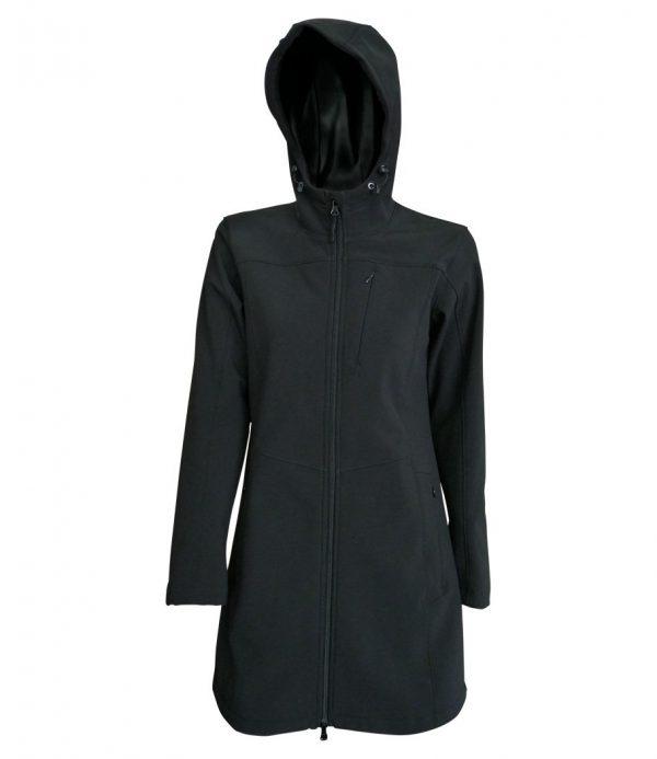 Bunda dámska softshell dlhá s kapucňou - 0707 5 - Brakon s.r.o
