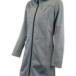 Bunda dámska softshell dlhá s kapucňou - 0707 1 - Brakon s.r.o