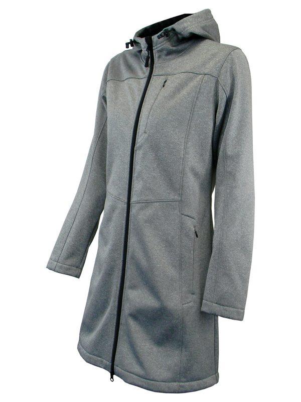 Bunda dámska softshell dlhá s kapucňou - 0707 3 - Brakon s.r.o