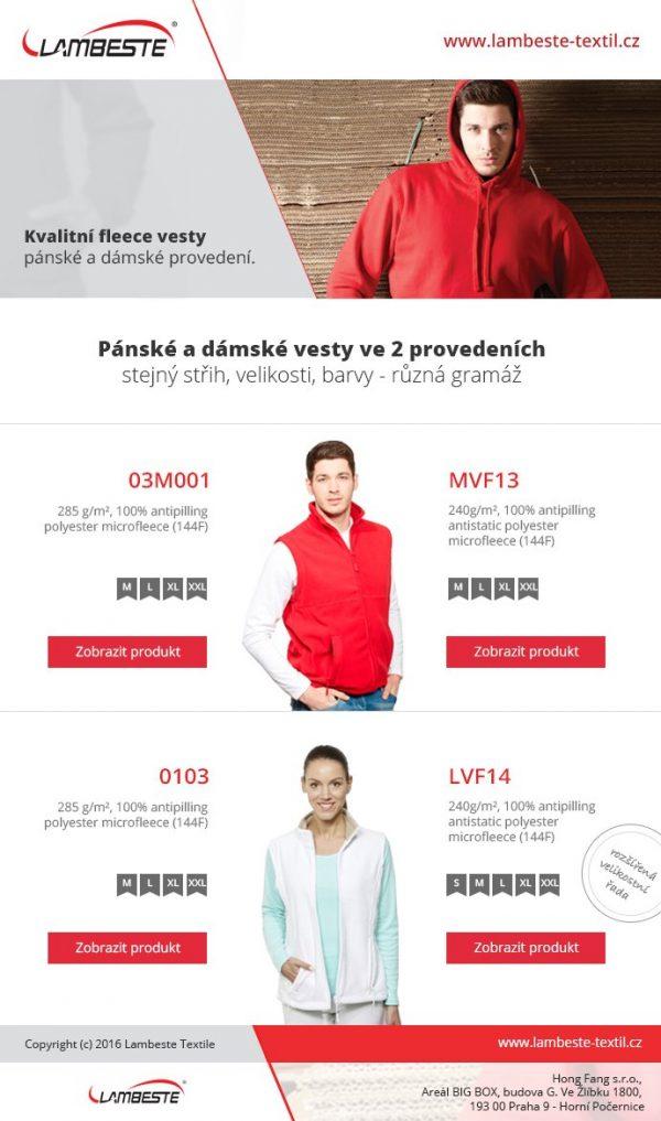 VESTA DÁMSKÁ FLEECE - LVF14 10 - Brakon s.r.o