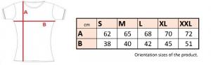 """TRIČKO DÁMSKE KRÁTKY RUKÁV S VÝSTRIHOM """"V"""", 210 g/m² interlock - 032V 12 - Brakon s.r.o"""