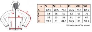 Bunda pánska softshell šport farebný zips - SJM24 10 - Brakon s.r.o