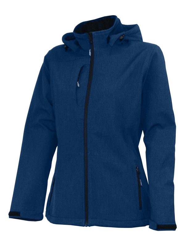 Bunda dámska softshell, odnímateľná kapucňa - 0706 - K 4 - Brakon s.r.o
