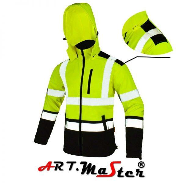 SOFTREF žltá softshellová bunda VYPREDANÉ 3 - Brakon s.r.o