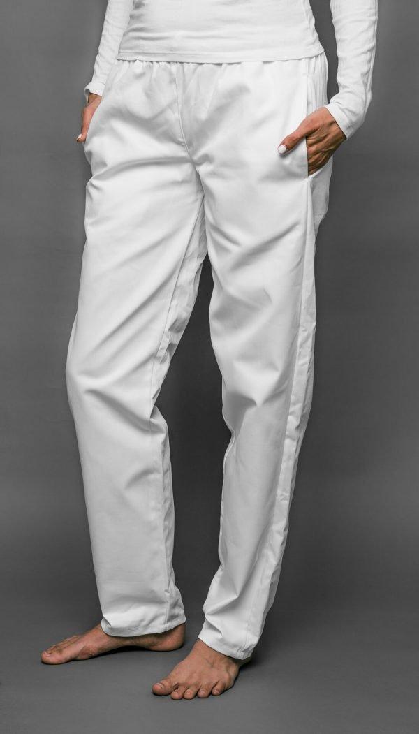 Biele nohavice dámske, v páse celogumové, FA 104 3 - Brakon s.r.o