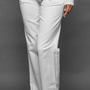Biele nohavice dámske, vzadu na gumu, zapínanie na gombíky z boku FA 105 5 - Brakon s.r.o