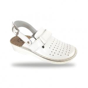 Dámske biele anatomické papuče D52K 4 - Brakon s.r.o