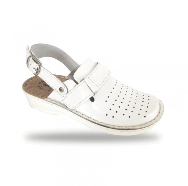 Dámske biele anatomické papuče D52K 3 - Brakon s.r.o