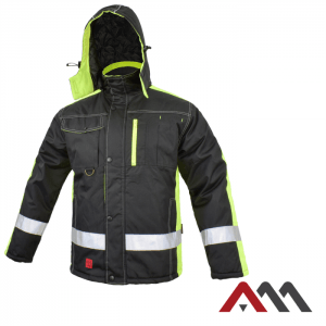 Zimné bunda CLASSWORK - čierno-reflexná žltá 3 - Brakon s.r.o