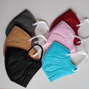 Detský respirátor FFP2 farebný - 0,95/ks, odber 12ks mix farieb SKLADOM 1 - Brakon s.r.o